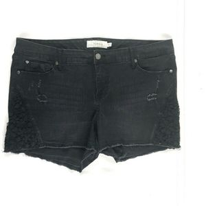 Torrid Black Shorts with Lace Details